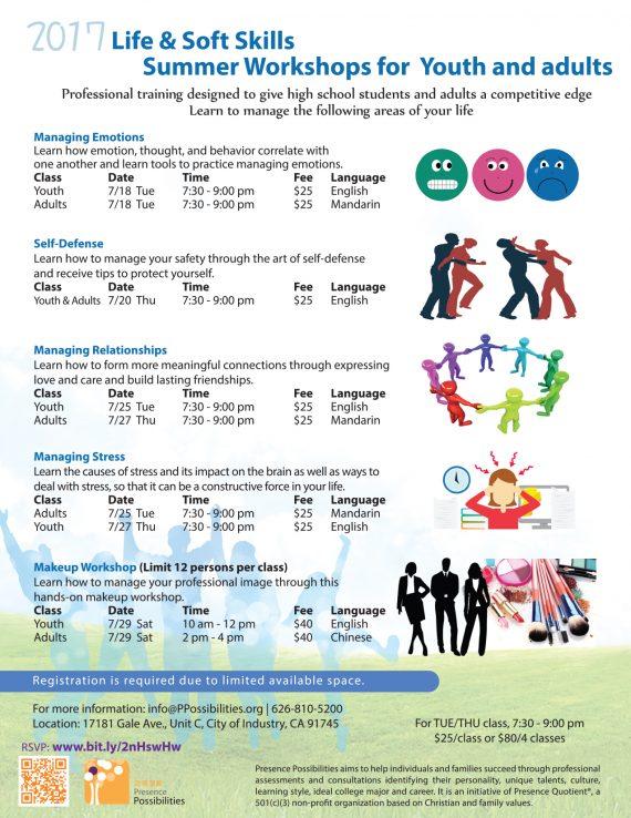 2017 Summer Workshops_English