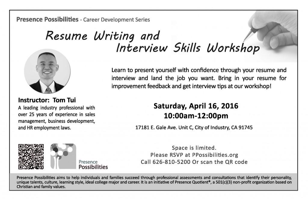 resume writing  u0026 interview skills workshop