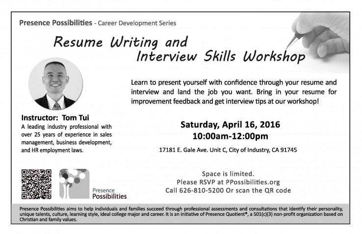 resume writing interview skills workshop